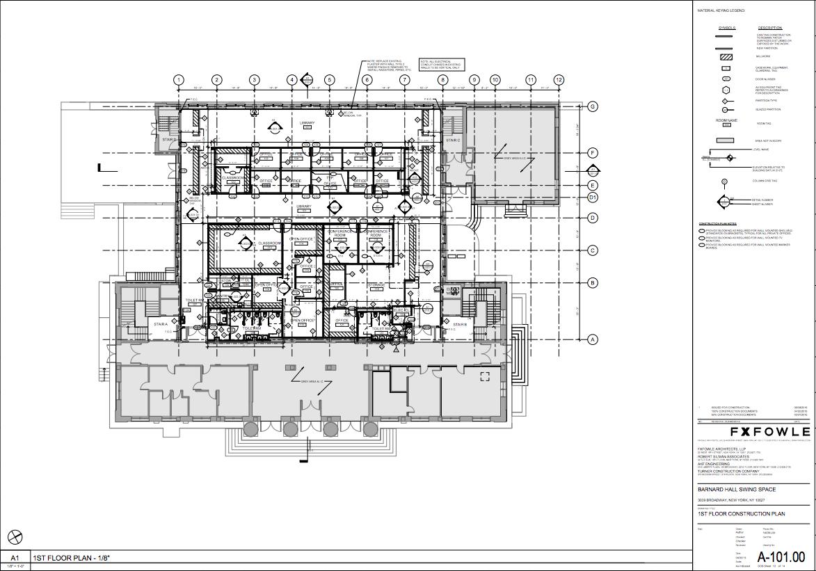Work in Progress: A look inside Barnard\'s LeFrak Center swing space ...