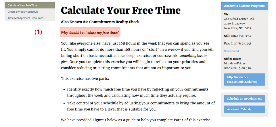 columbia s ill conceived time management calculator annotated