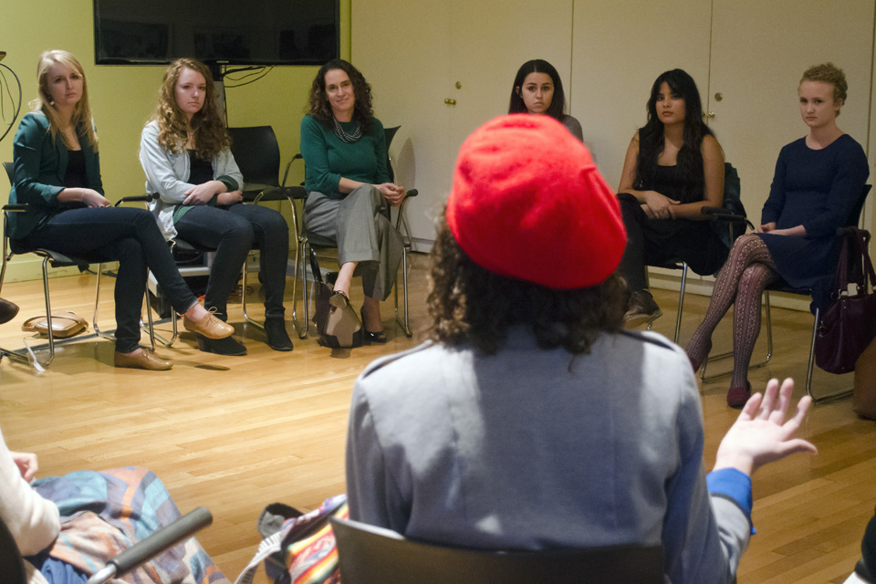 At fireside chat, Spar, students discuss admitting transgender students to  Barnard