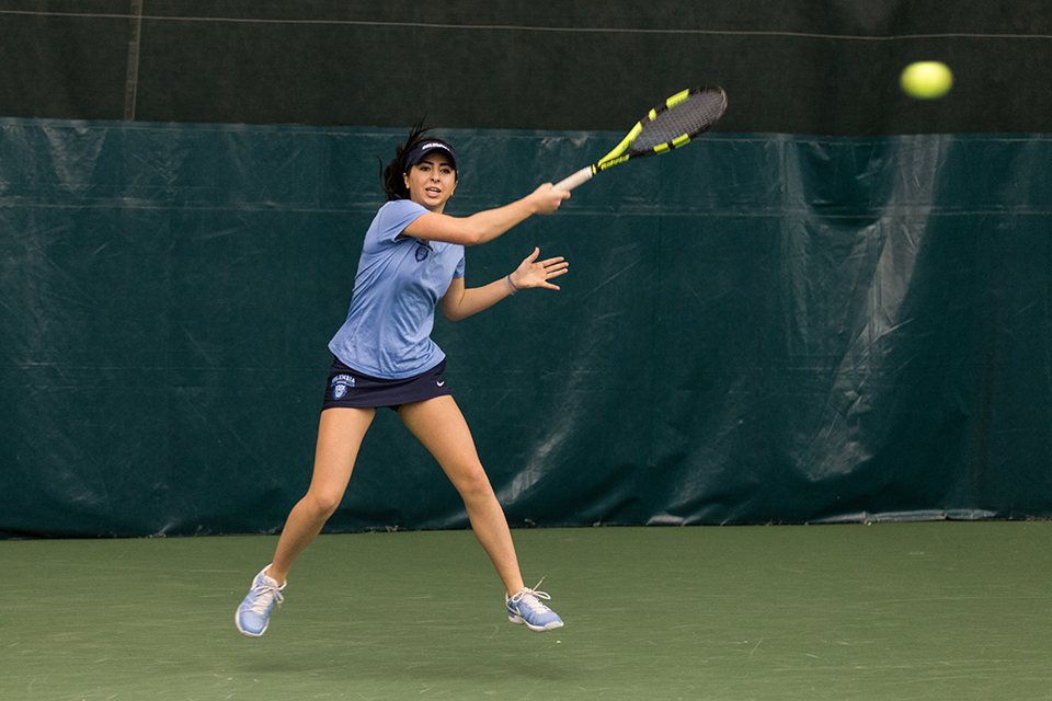 Women S Tennis Hosts Columbia Invitational Wins Four Singles And