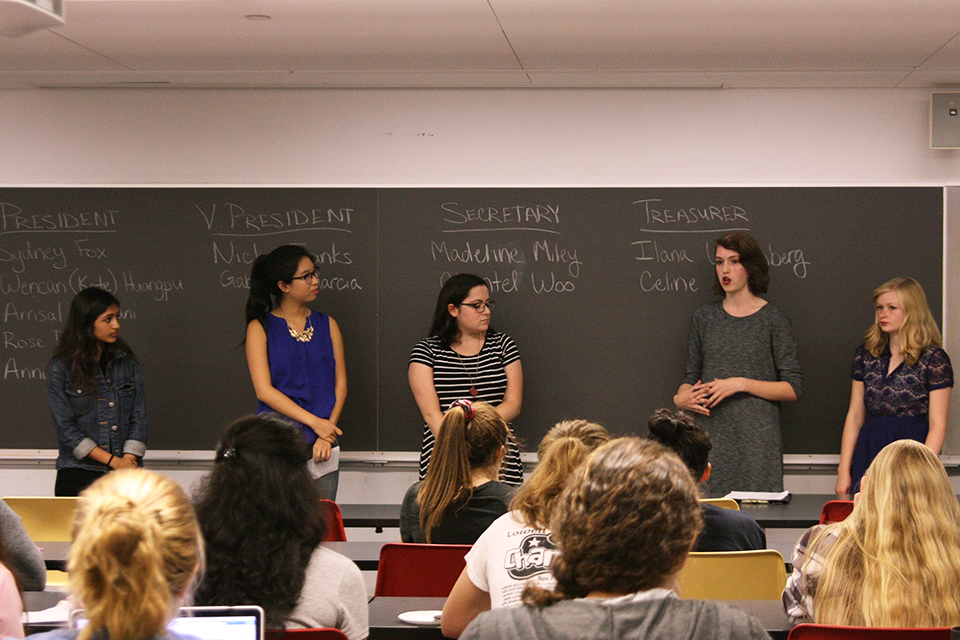 Barnard first-year SGA candidates focus on swipe-in, guest