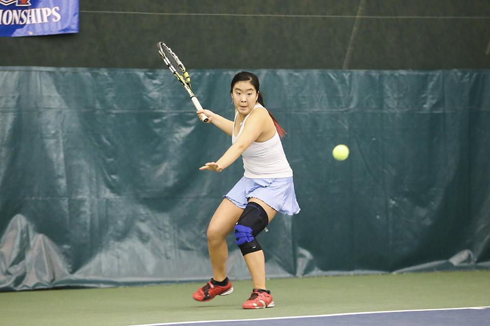 No  36 women's tennis travels to No  39 Harvard, Dartmouth